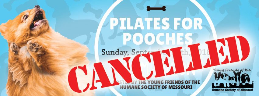 Pilates for Pooches on 9/30 has been cancelled
